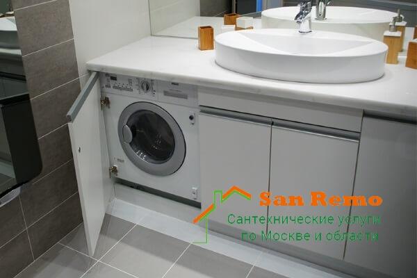Установка стиральной машины, цена за работу по установке стиральной машины