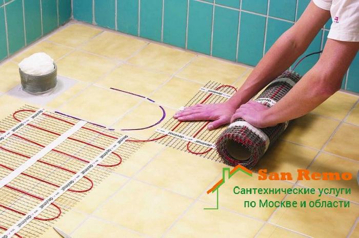 Монтаж тёплого водяного пола в Москве, цена за работу, стоимость установки тёплого пола в квартире