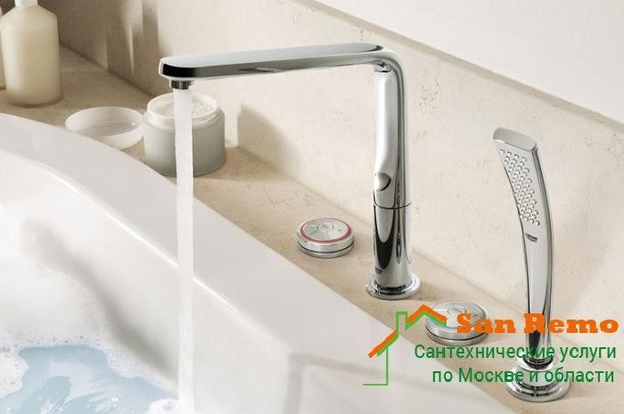 Замена смесителя в ванной, цена в Москве, стоимость работ по установке смесителя в ванной и монтажу