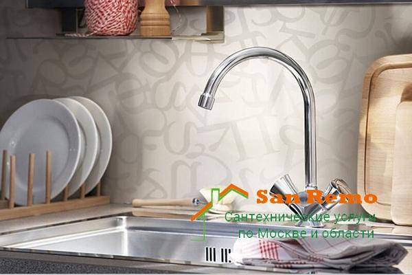 Цены на замену смесителя на кухне в Москве, установка кухонного смесителя в Москве, стоимость монтажа смесителей