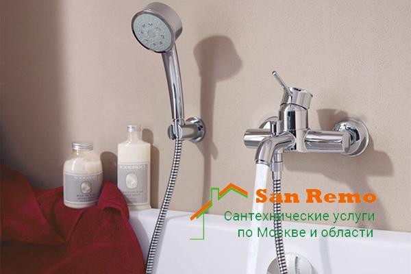 Цена установки душевого смесителя, установка смесителей с душем в Москве