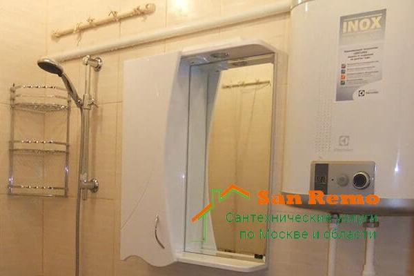 Установка водонагревателя, стоимость в Москве