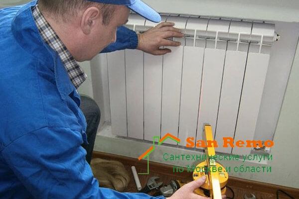Замена радиаторов отопления в квартире, цены на замену чугунных, стальных, алюминиевых батарей в Москве