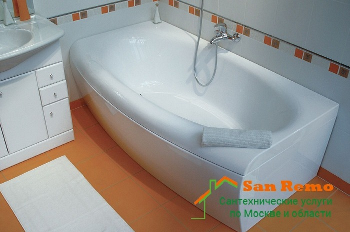 Установка акриловой ванны, цены на монтаж и демонтаж в Москве