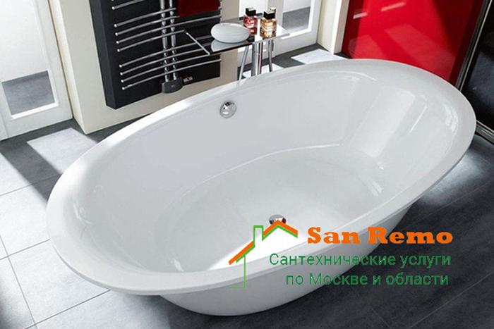 Установка стальной ванны, цена установки стальной ванны в Москве