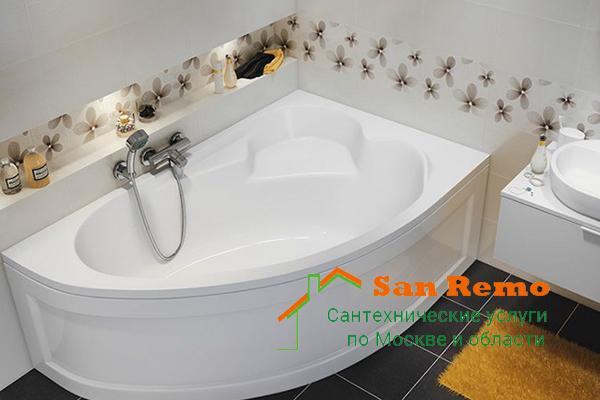 Установка акриловой ванны, стоимость установки акриловой ванны в Москве