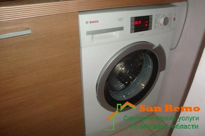 Установка и подключение стиральной машины Bosch в Москве, цены на San-remo77.ru