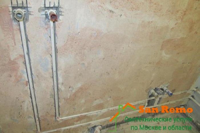 Разводка и монтаж труб в ванной комнате в Москве, цены на San-remo77.ru