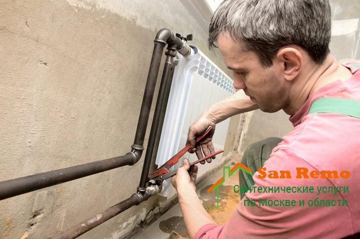Разводка и монтаж труб отопления в квартире, цены в Москве на San-Remo77.ru