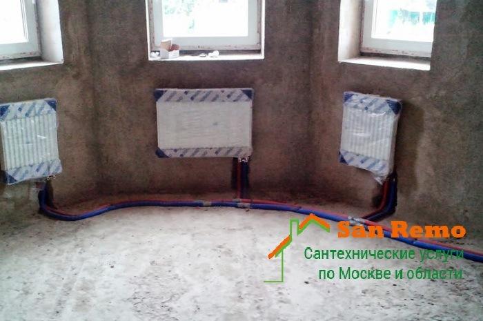 Разводка и монтаж труб отопления, цены в Москве на San-Remo77.ru