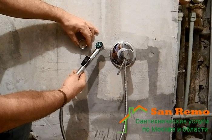 Установка смесителя в стену в ванной, цены и расценки на монтаж смесителя в стене в Москве на San-Remo77.ru