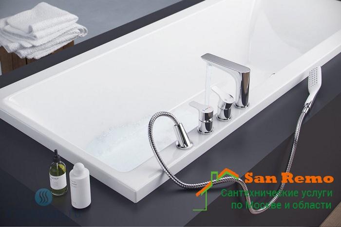 Монтаж смесителя на борт ванной, стоимость работ по установке смесителя на борт ванны в Москве - San-Remo77.ru