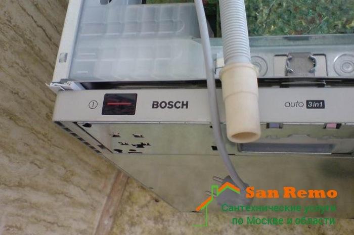 Установка посудомоечной машины Bosch (Бош), стоимость услуг в Москве - San-Remo77.ru