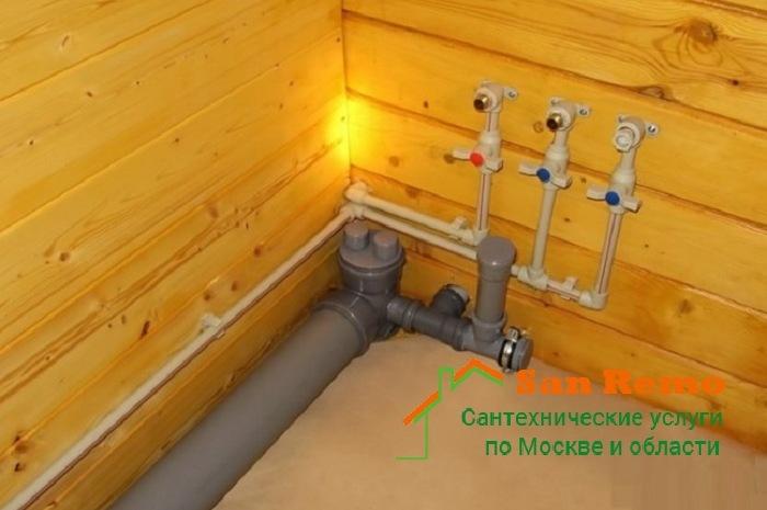 Разводка воды в деревянном доме, стоимость услуг на разводку труб в деревянном доме - San-Remo77.ru