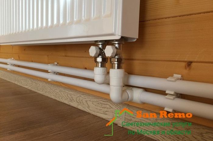 Установка и подключение стальных панельных радиаторов: стоимость услуги в Москве - San-Remo77.ru